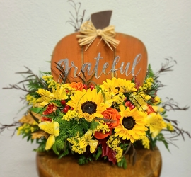 Grateful Pumpkin Arrangement  from Pennycrest Floral in Archbold, OH