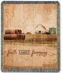 Faith, Family, Farming Throw from Pennycrest Floral in Archbold, OH