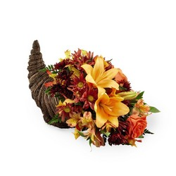 Harvest Comfort Cornucopia  from Pennycrest Floral in Archbold, OH